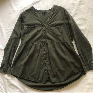 Torrid Green Babydoll Tunic Top size 1